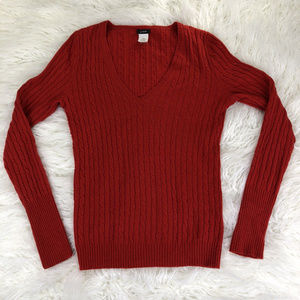 J. Crew Women's V-Neck Sweater Red Size Small